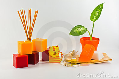 Orange decorations for children s