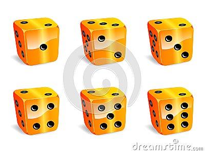 Orange dices