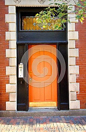 Free Orange Door Stock Images - 6294394