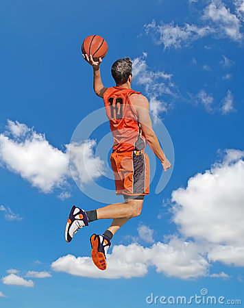 Free Orange Dunk In The Sky Royalty Free Stock Photo - 38030825