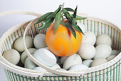Orange and eggs