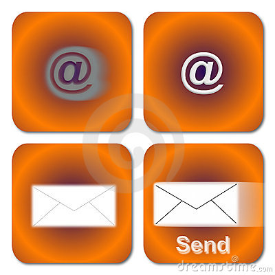 Orange Email Buttons
