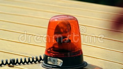 Orange Emergency Lights Stock Footage Video 43297698