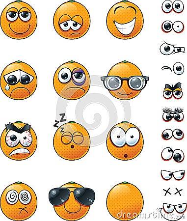 Free Orange Emoticon Set Royalty Free Stock Image - 102494366