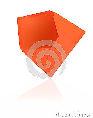 Orange envelope with reflection