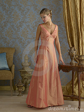 Orange Evening Gown