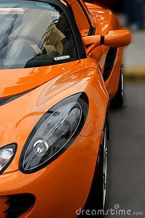 Orange exotic sports car