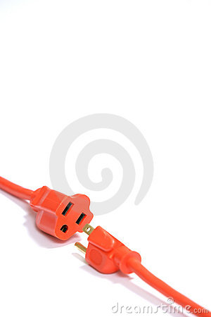 Free Orange Extension Cord Royalty Free Stock Image - 4746886