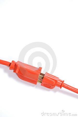 Free Orange Extension Cord Royalty Free Stock Image - 4746956