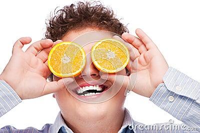Orange on eyes