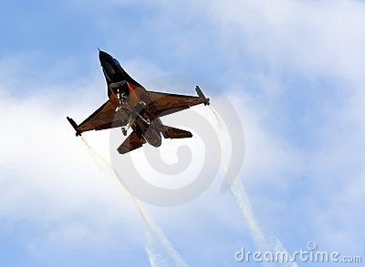 Orange F16 Editorial Stock Photo