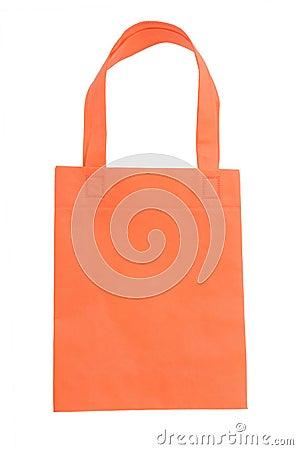 Orange fabric bag
