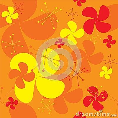 Orange fan background