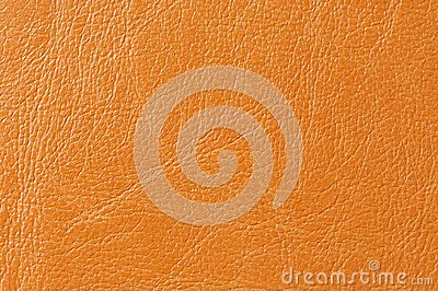Orange Faux Leather Background Texture