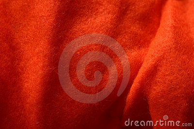 Orange Felt Texture 1