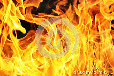 Orange fire flame