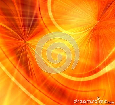 Orange Fireworks Blast