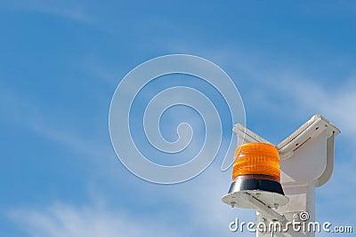 Orange flashlight siren