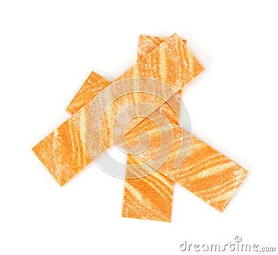Orange flavored gum