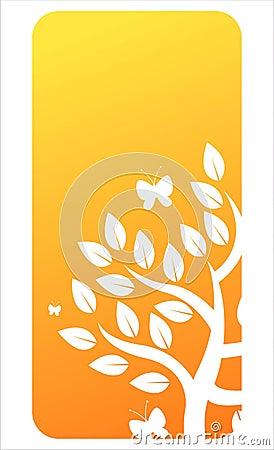 Orange floral banner