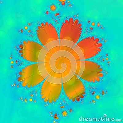 Free Orange Flower Royalty Free Stock Photo - 3345895