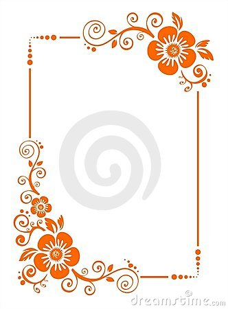 Free Orange Flower Border Stock Images - 3489124