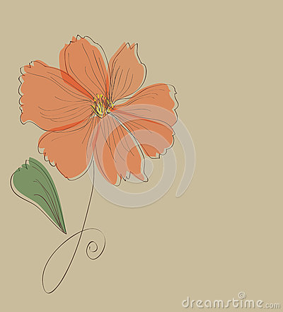 Orange flower card pattern