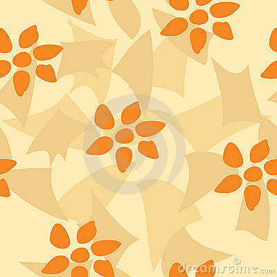 Orange Flower Tile