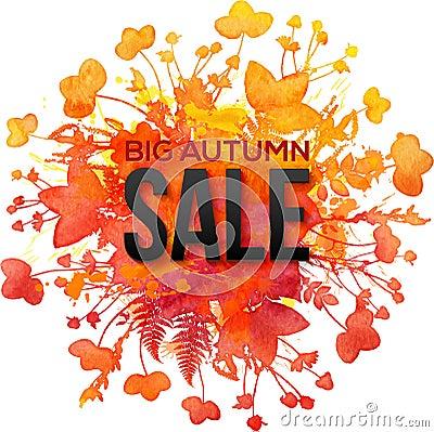 Free Orange Foliage Splash Big Autumn Sale Banner Stock Photos - 56957453