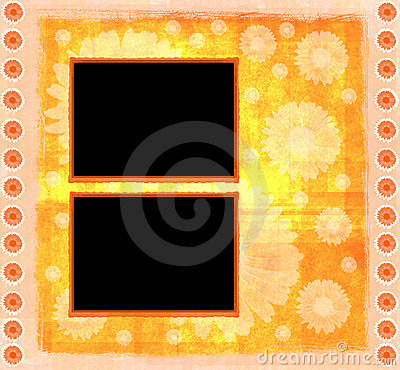 Orange framework scrapbook template