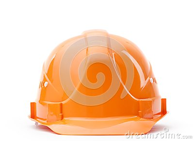 Orange fronted hard hat