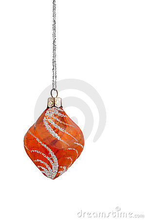 Orange Frosted Christmas Bauble