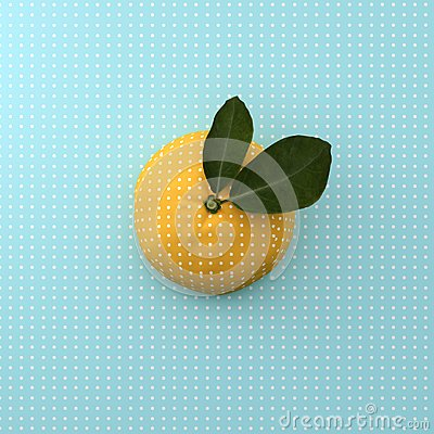 Free Orange Fruit Dot On Point Pattern Blue Background. Minimal Idea Stock Photo - 105634050
