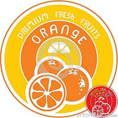 Orange fruit label