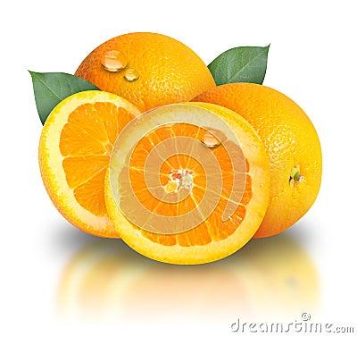 Free Orange Fruit On White Background Stock Images - 15291624