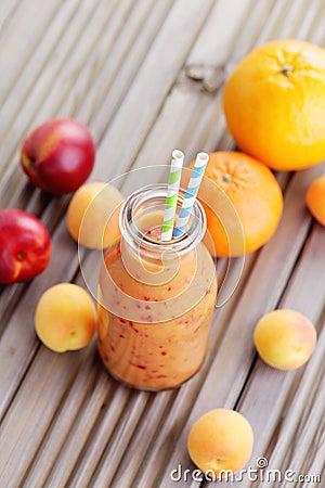 Free Orange Fruity Smoothie Stock Photography - 41248762