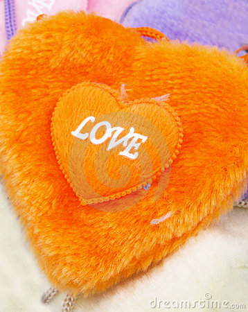 Free Orange Fuzzy Heart Royalty Free Stock Photo - 636645