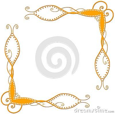 Orange gewundene Ecken