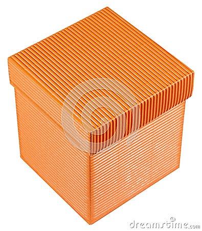 Free Orange Gift Box Royalty Free Stock Photos - 24043058