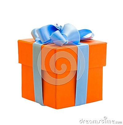 Free Orange Gift Box Royalty Free Stock Images - 30651609