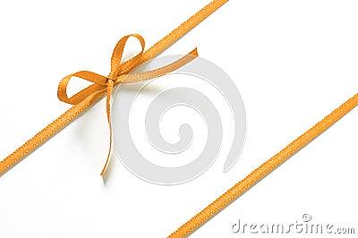 Orange gift ribbon
