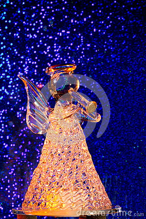 Orange Glass Angel