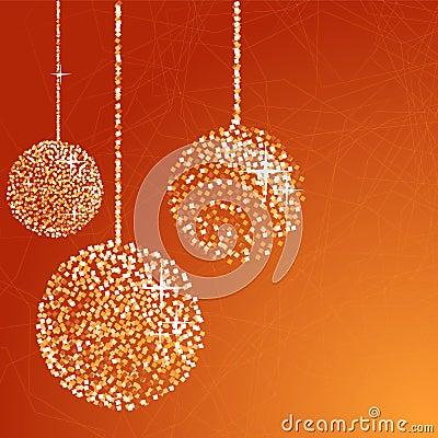 Free Orange Glitter Balls Stock Photo - 17229460