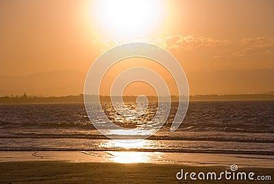 Orange Gold Sunset Byron Bay