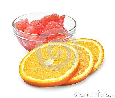 Orange and grapefruit slices
