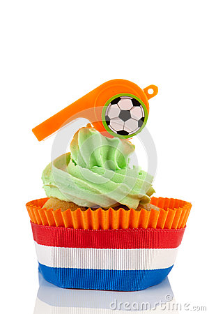 Orange And Green Cupcake Royalty Free Stock Photos - Image: 24777358