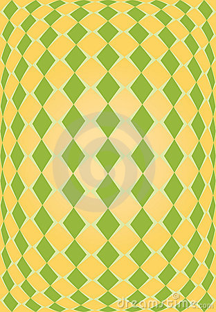 Orange and green rhombus texture