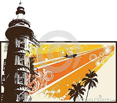 Orange Grunge Retro City