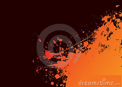 Orange grunge sun