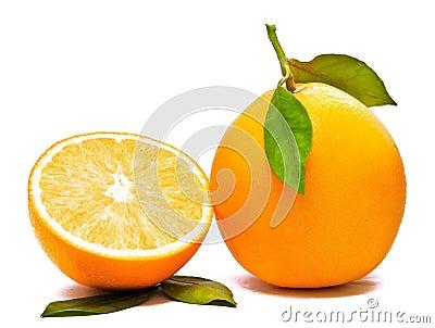 Orange And Half